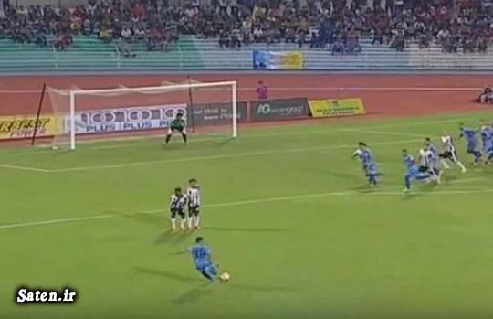 لیگ مالزی گل عجیب گل زیبا فوتبال مالزی اخبار ورزشی