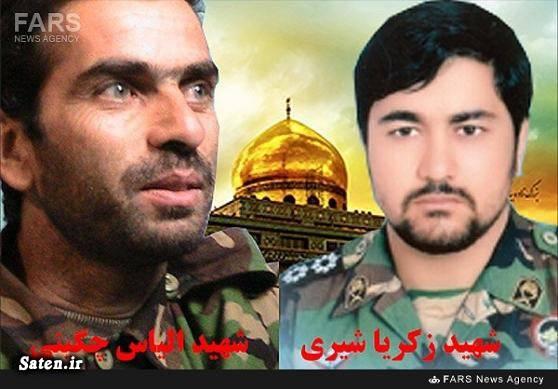 شهدای مدافع حرم زکریا شیری تشییع مدافعان حرم الیاس چگینی اخبار قزوین اخبار سوریه