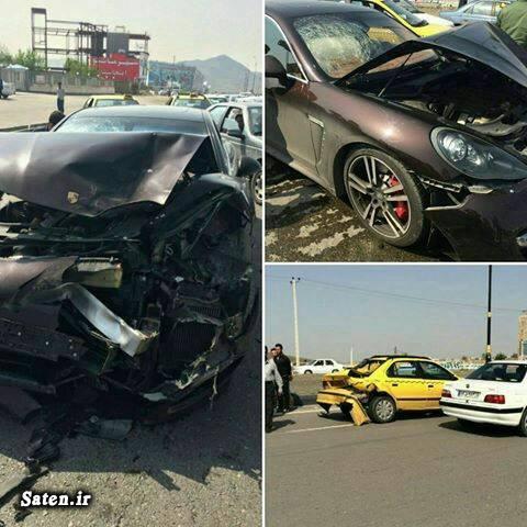 عکس تصادف حوادث مشهد تصادف خودرو لوکس تصادف خودرو گرانقیمت اخبار مشهد اخبار شاندیز