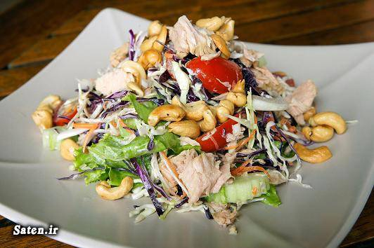 لاغر شدن غذای رژیمی راز لاغری درمان چاقی بهترین رژیم لاغری آموزش آشپزی thai chicken salad