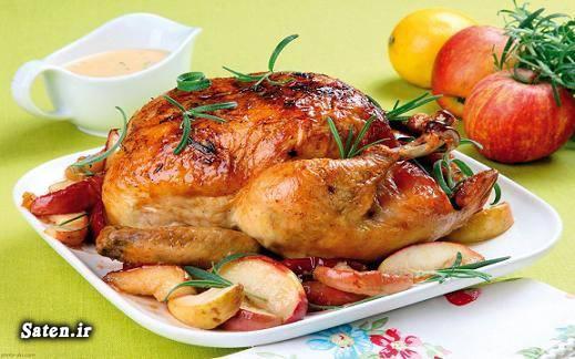 مرغ شکم پر غذای خوشمزه بهترین سایت آشپزی آموزش پخت مرغ شکم پر آشپزی بدون فر