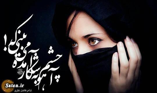 کتاب جدید فاضل نظری شعر عاشقانه بیوگرافی فاضل نظری اشعار عاشقانه فاضل نظری