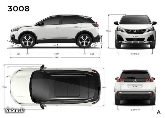 مشخصات پژو 3008 قیمت شاسی بلند قیمت پژو 3008 2016 Peugeot 3008