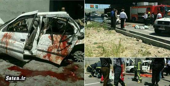 دختر دانشجو حوادث قزوین تصادف سمند امنیت سمند اخبار قزوین
