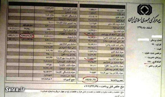 فیش حقوقی بیمه مرکزی سوابق عبدالناصر همتی رئیس بیمه مرکزی بیوگرافی عبدالناصر همتی