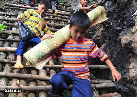 مسیر مدرسه عکس چین راه مدرسه اخبار چین