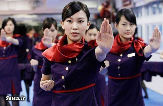 مهماندار هواپیما زن چینی دختر چینی