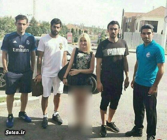 دختر بی حجاب دختر ارمنی بازیکنان استقلال تهران