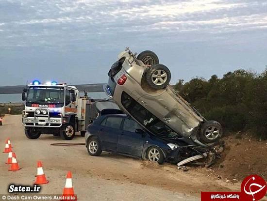 عکس تصادف زندگی در استرالیا تصادف عجیب تصادف جالب