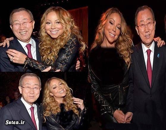 همسر ماریا کری همسر بان کی مون کاریکاتور سازمان ملل زن آمریکایی خواننده زن مشهور بیوگرافی ماریا کری بیوگرافی بان کی مون Mariah Carey Ban Ki Moon