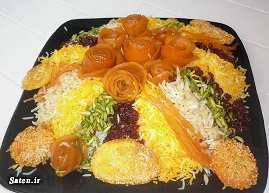 مرصع پلو شیرازی تزیین غذا بهترین سایت آشپزی آموزش غذای ایرانی آموزش غذا مجلسی آموزش آشپزی