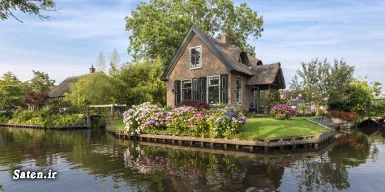 زندگی در هلند روستای گیتورن روستای زیبا روستاهای توریستی دختر هلندی توریستی هلند بیماری عجیب انسان عجیب Giethoorn