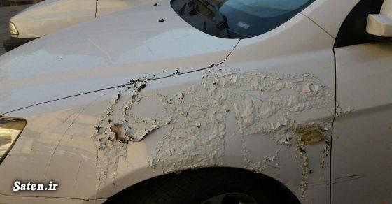عکس اسید پاشی حوادث شیراز