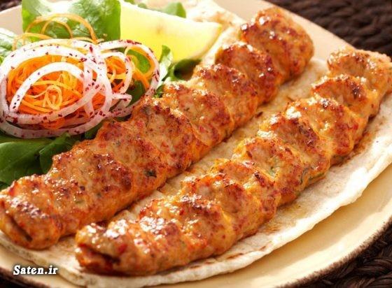 کباب کوبیده طرز تهیه کباب مرغ طرز تهیه کباب کوبیده مرغ بهترین سایت آشپزی آموزش آشپزی