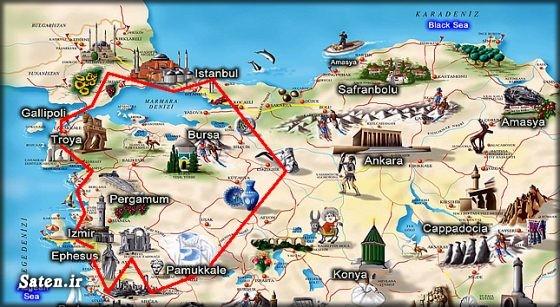 نقشه گنج مناطق دیدنی ترکیه شهر تروا ترکیه اخبار ترکیه آدرس گنج Troy turkish