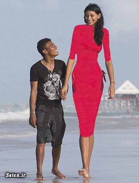 قد بلندترین انسان عروس قد بلند زن برزیلی دختر قد بلند دختر برزیلی