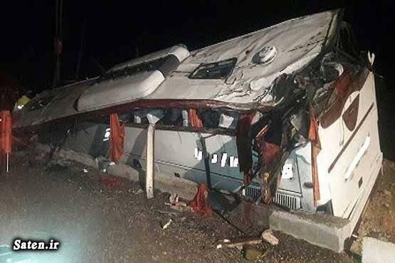 حوادث یزد تصادف اتوبوس