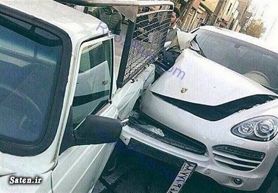 تصادف وانت تصادف خودرو لوکس تصادف خودرو گرانقیمت تصادف پورشه
