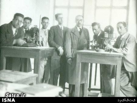 عکس قدیمی عکس ایران قدیم شاگردان پرفسور حسابی رادیو ترانزیستوری بیوگرافی پرفسور حسابی