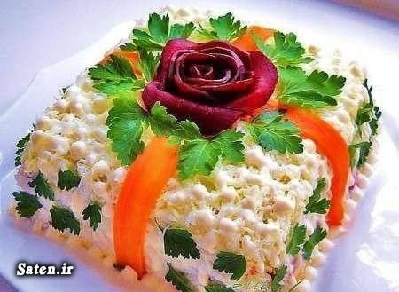 طرز تهیه سالاد ماکارونی سالاد ماکارونی مجلسی خلاقیت آشپزی تزیین زیبای سالاد بهترین سایت آشپزی آموزش پخت ماکارونی
