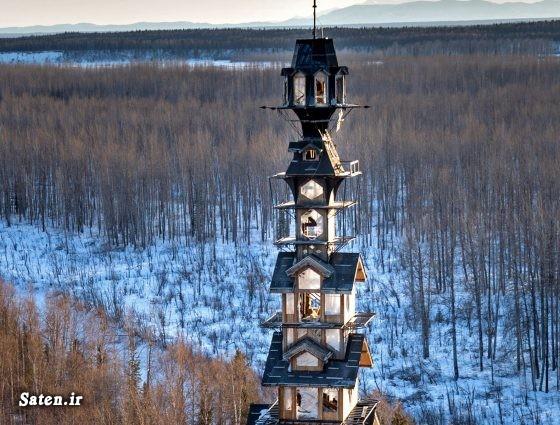 عکس روسیه خانه عجیب خانه زیبا توریستی روسیه بهترین نمای ساختمان