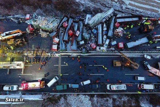 عکس تصادف مرگبار عکس تصادف دلخراش حوادث واقعی اخبار چین