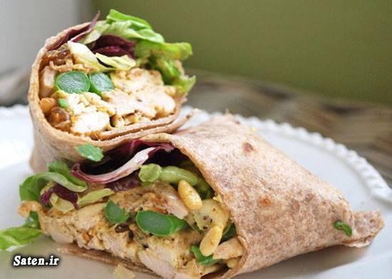 نان تورتیلا طرز تهیه ساندویچ مرغ بهترین سایت آشپزی آشپزی ساده سریع و آسان آشپزی با مرغ
