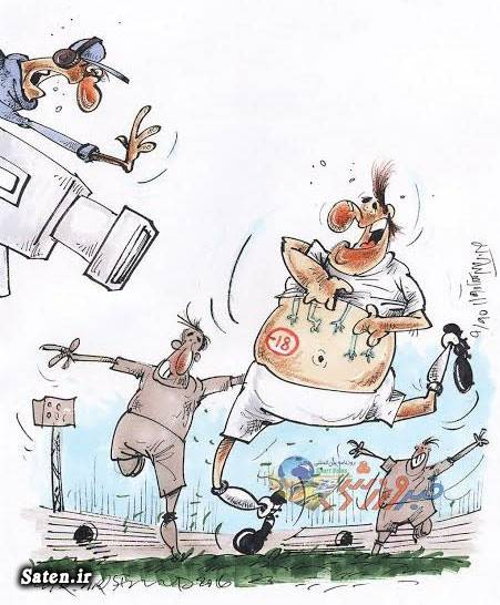 کاریکاتور ورزشی کاریکاتور فوتبال عکس خالکوبی خالکوبی فوتبالیست ها