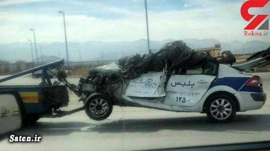 خودرو پلیس تصادف وحشتناک تصادف ماشین پلیس