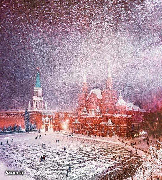 عکس مسکو عکس زیبا عکس زمستان عکس روسیه عکس جالب سفر به روسیه توریستی روسیه
