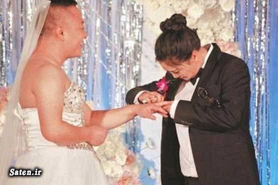 عکس عروس و داماد عروسی جالب عروس و داماد عجیب زیباترین لباس عروس زن چینی اخبار چین
