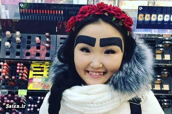 دختر روسی جدیدترین مدل ابرو آرایش ابرو