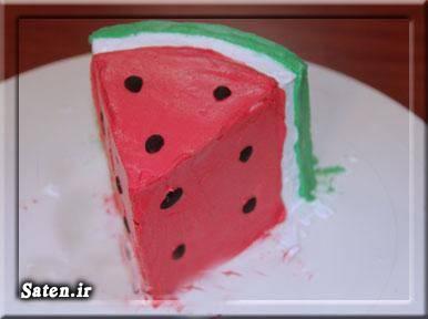 اموزش حنا به شکل کیک دو طبقه 28  Watermelon Shaped Cake Watermelon Cake A Creative Mom,35 Best Images About Airbrushed Cakes On Pinterest Cakes,J J Bakery Me