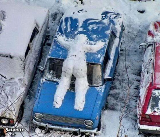 عکس زیبا عکس خلاقیت عکس جالب آدم برفی های زیبا