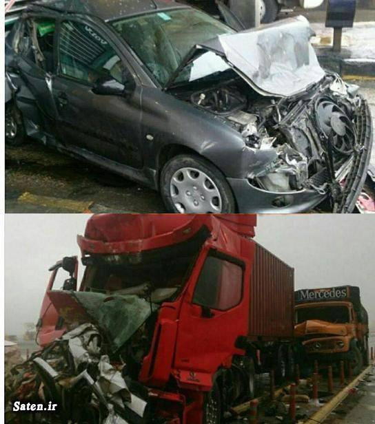 عکس تصادف مرگبار عکس تصادف دلخراش عکس تصادف خودرو اخبار کاشان