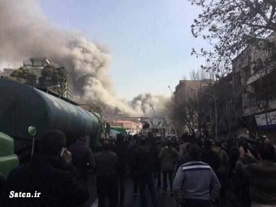 ساختمان پلاسکو حوادث تهران آتش سوزی ساختمان پلاسکو