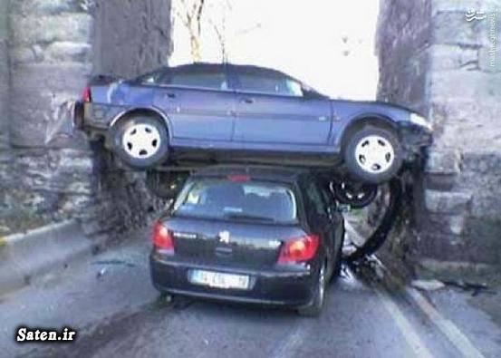 عکس رانندگی زنان عکس جالب عکس تصادف خودرو عکس باحال حوادث رانندگی