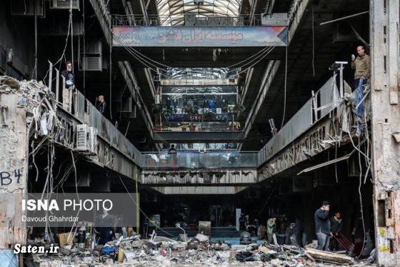 ساختمان پلاسکو اخبار تهران آتش سوزی ساختمان پلاسکو