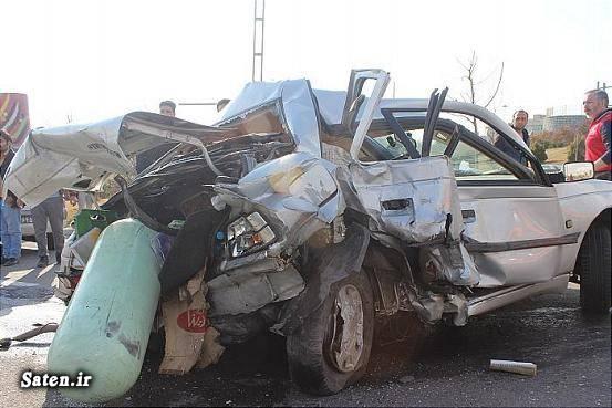 عکس تصادف مرگبار عکس تصادف دلخراش حوادث تهران تصادف پژو تصادف پراید امنیت پراید