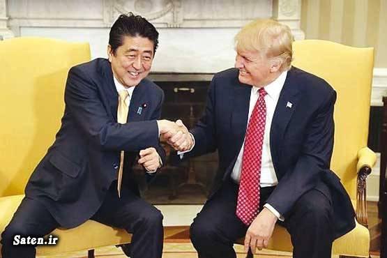 نخست وزیر ژاپن رئیس جمهور آمریکا بیوگرافی دونالد ترامپ اخبار آمریکا