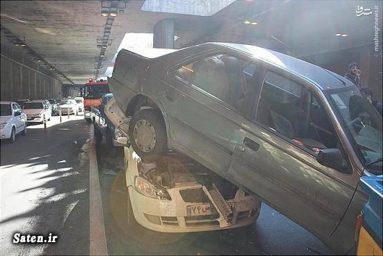 عکس تصادف حوادث تهران تصادف زنجیره ای