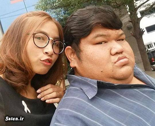 همسر ایده آل خانم ها دختر تایلندی چاق ترین مرد چاق ترین پسر ازدواج جالب اخبار تایلند