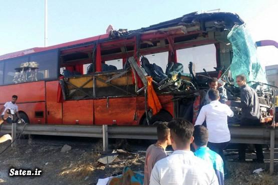 حوادث تبریز تصادف اتوبوس اخبار تصادف