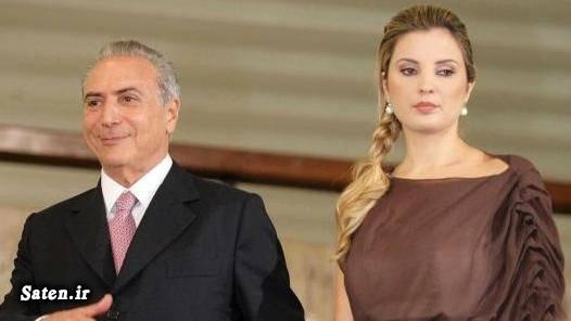همسر زیبا همسر رئیس جمهور زن برزیلی رئیس جمهور برزیل اخبار برزیل marcela temer