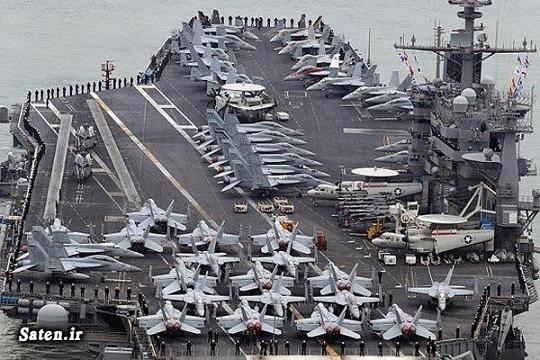 ناو هواپیمابر آمریکا قدرت نظامی کره شمالی رهبر کره شمالی اخبار کره شمالی اخبار آمریکا