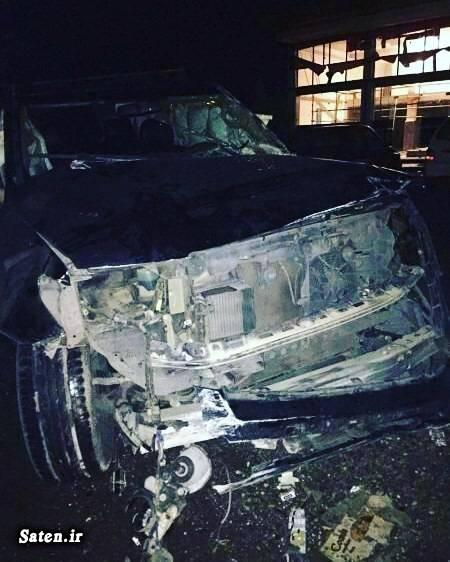 عکس تصادف خودرو خودرو فوتبالیست ها بیوگرافی مهرداد میناوند اینستاگرام مهرداد میناوند