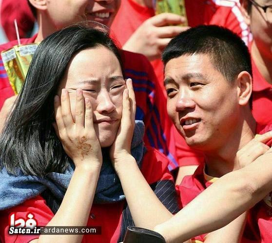 ورزشگاه آزادی نتیجه بازی ایران و چین زنان تماشاگر فوتبال زن چینی دختر چینی