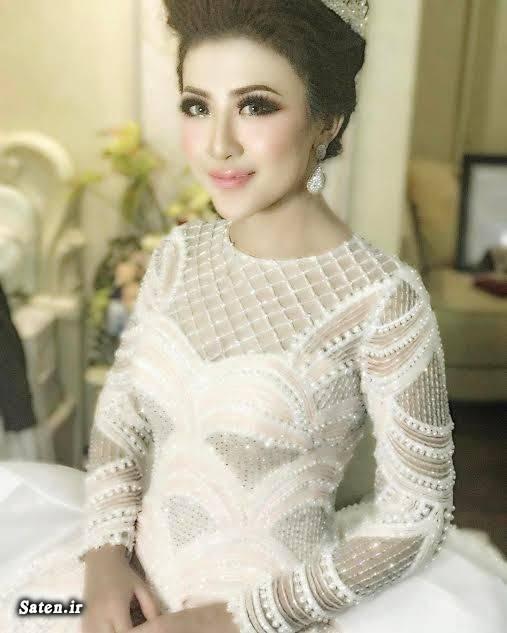 مدل لباس عروس جدید مدل لباس عروس پرنسسی لباس عروس پفی دنباله دار لباس عروس اینتان آزاهرا لباس عروس آستین دار گرانترین لباس عروس زیباترین لباس عروس زن اندونزیایی