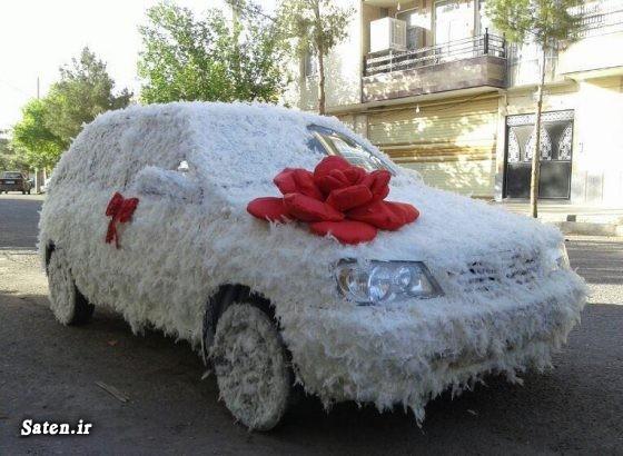 ماشین عروس پراید عکس ماشین عروس جدید زیباترین ماشین عروس تزئین ماشین عروس بهترین ماشین عروس