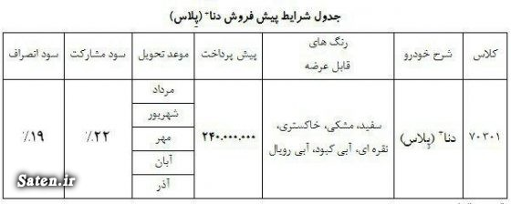 مشخصات دنا پلاس قیمت محصولات ایران خودرو قیمت دنا پلاس پیش فروش ایران خودرو